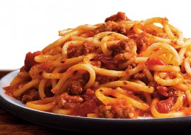 Spaghetti with Meat & Marinara Sauce