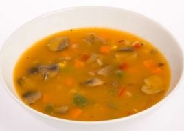Portobello Mushroom and Barley Soup