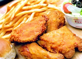 Golden Fried Chicken Dinner