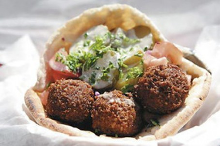 Shawarma Falafel Roll-Ups and Platters