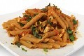 Penne with Chicken in Pink Vodka Sauce