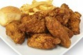 Fried Chicken Wings Dinner