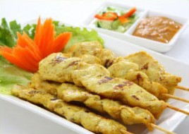 Chicken or Pork Sate (6 pcs)