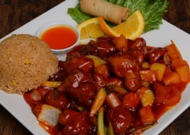 Sweet and Sour Chicken Dinner