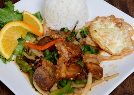 Pad Kra Pow with Crispy Pork Combo Today