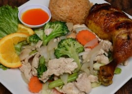Chicken with Mixed Vegetables and Cashew Nuts Combo Special