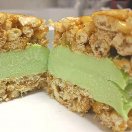 Green Tea Ice Cream Sandwich
