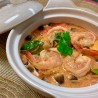 Creamy Tom yum noodle shrimp