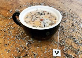 Lavender Rose CBD Tea Latte