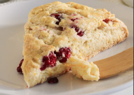 Cranberry Ginger Scone