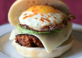 Chorizo Whole Egg Breakfast Sandwich