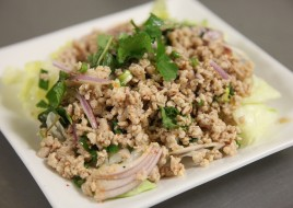 25. Larb (spicy chicken or tofu salad)