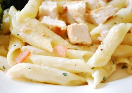 Penne and Chicken Alfredo