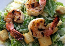 Grilled Shrimp Caeser Salad
