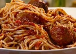 Spaghetti with Meatballs and Marinara Sauce