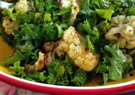 Roasted Cauliflower & Kale Salad