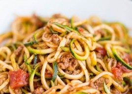 Zucchini Noodles With Meat Sauce
