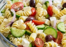 Vegan Greek Pasta Salad (Vegan Approved)