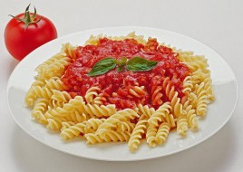 Spiral Pasta with tomato sauce