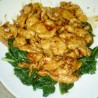 Garlic Chicken on a Bed of Spinach
