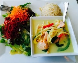 Salmon Green Curry Lunch