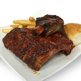 Pork and Beef Rib Combo Dinner