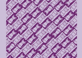 Kitsune Purple on Lavender Bandana