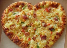 Small Heart Shaped Pizza