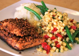 Spicy Pecan-Crusted Atlantic Salmon