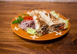 Kafta Beef (Ground Luleh Beef) Wrap