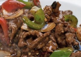 Beef with Hot Black Bean Sauce
