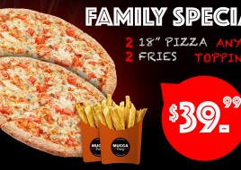 Family Special Toppings Pizza