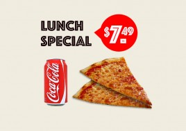 CHEESE SLICE LUNCH SPECIAL