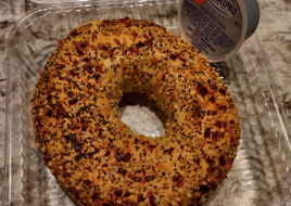 Everything Bagel with Cream Cheese